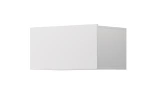 MORIO, https://konsimo.pl/kolekcja/morio/ Nowoczesna zamykana szafka modułowa wisząca biała biały - zdjęcie