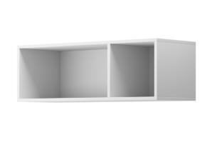 MORIO, https://konsimo.pl/kolekcja/morio/ Nowoczesna podwójna półka wisząca biała biały - zdjęcie