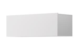 MORIO, https://konsimo.pl/kolekcja/morio/ Nowoczesna zamykana wisząca szafka biała biały - zdjęcie