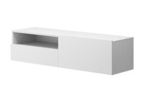 MORIO, https://konsimo.pl/kolekcja/morio/ Nowoczesna wisząca szafka rtv biała biały - zdjęcie