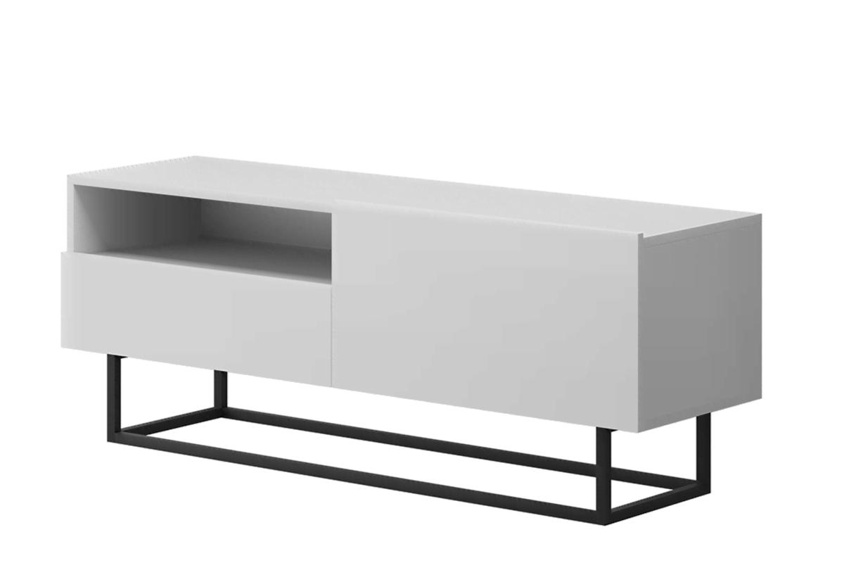Nowoczesna szafka rtv z szufladą biała