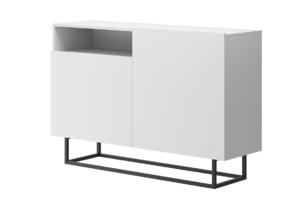 MORIO, https://konsimo.pl/kolekcja/morio/ Mała nowoczesna komoda biała biały - zdjęcie