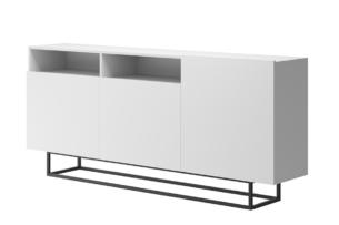 MORIO, https://konsimo.pl/kolekcja/morio/ Duża nowoczesna komoda biała biały - zdjęcie