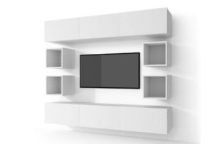 MORIO, https://konsimo.pl/kolekcja/morio/ Zestaw nowoczesne meble do salonu 10 elementów białe biały - zdjęcie