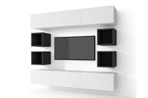MORIO, https://konsimo.pl/kolekcja/morio/ Zestaw nowoczesne meble do salonu 10 elementów grafitowe, białe biały/grafitowy - zdjęcie