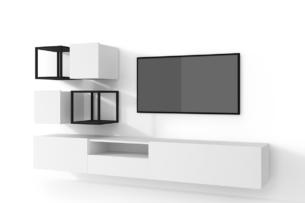 MORIO, https://konsimo.pl/kolekcja/morio/ Zestaw nowoczesne meble do salonu 6 elementów białe biały - zdjęcie