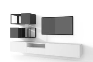 MORIO, https://konsimo.pl/kolekcja/morio/ Zestaw nowoczesne meble do salonu 6 elementów grafitowe, białe biały/grafitowy - zdjęcie