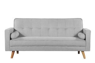 RUCO, https://konsimo.pl/kolekcja/ruco/ Rozkładana kanapa z funkcją spania jasnoszara jasny szary - zdjęcie