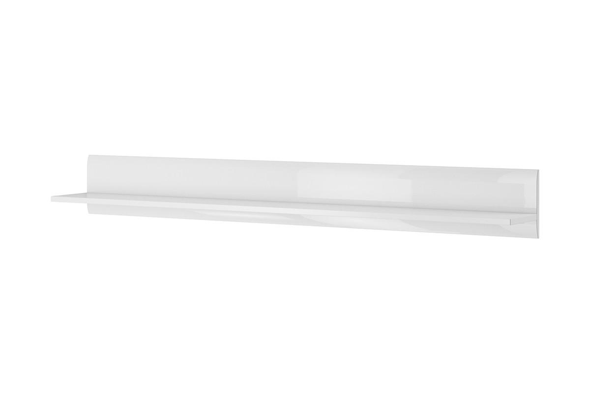 Półka wisząca180 cm  w stylu modern biały połysk