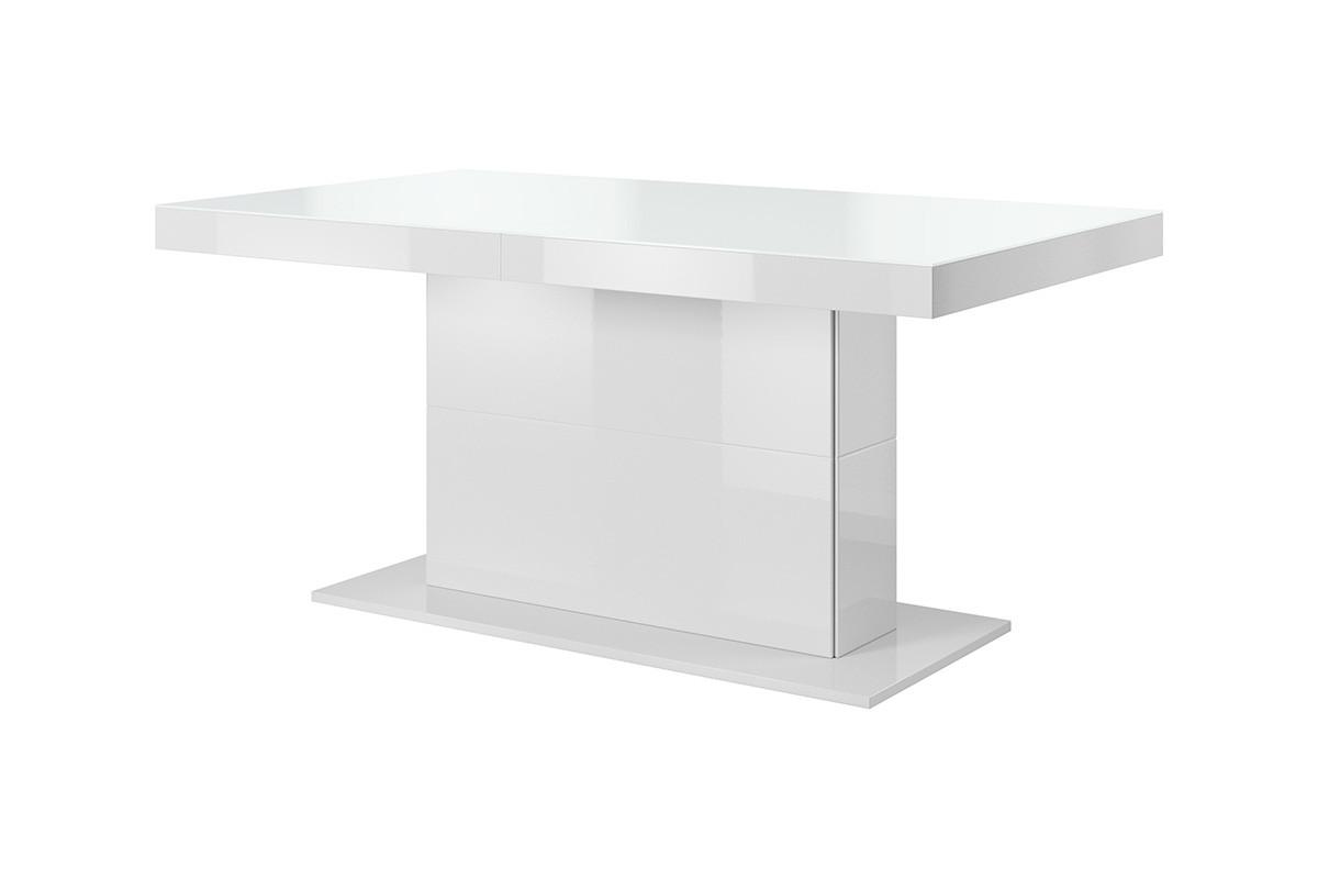 Stół na pojedynczej nodze w stylu modern biały połysk