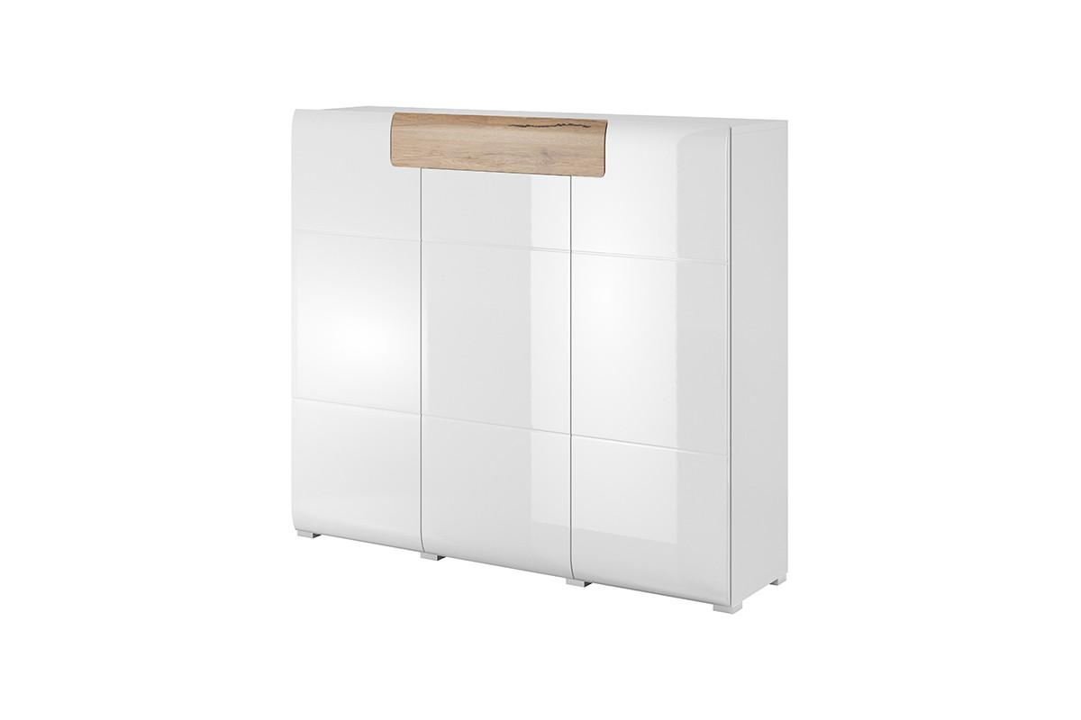 Nowoczesna komoda z półkami biała
