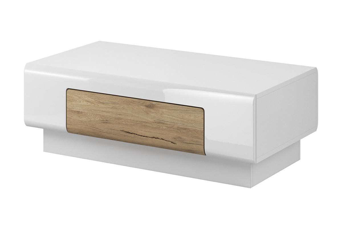Nowoczesny stolik z szufladą biały