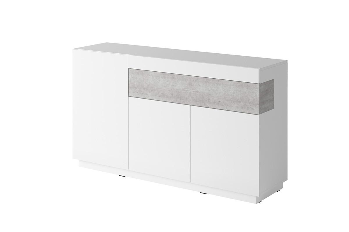 Komoda 150 cm z półkami modern biała / szara