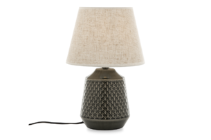 SOPI, https://konsimo.pl/kolekcja/sopi/ Lampa stołowa szary/beżowy - zdjęcie