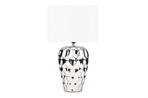 EFO, https://konsimo.pl/kolekcja/efo/ Lampa stołowa srebrny/biały - zdjęcie