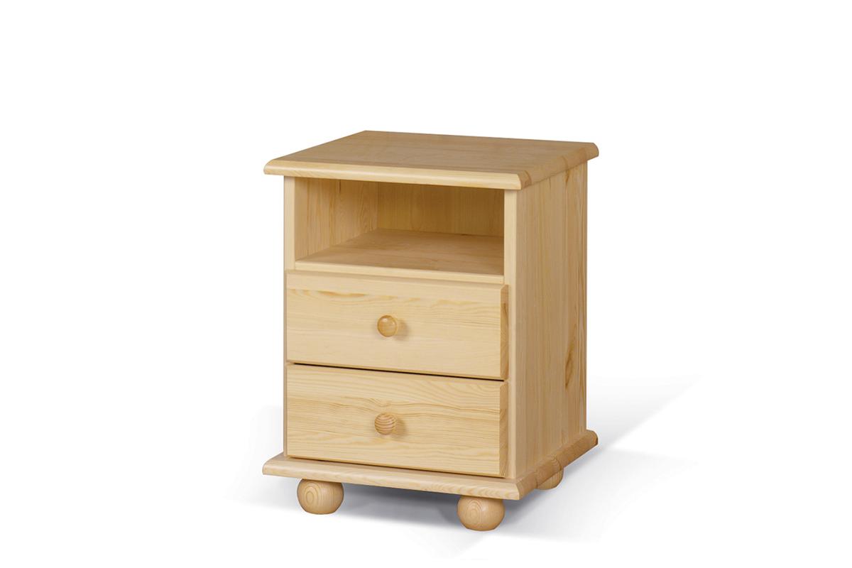 Drewniana szafka nocna z szufladami