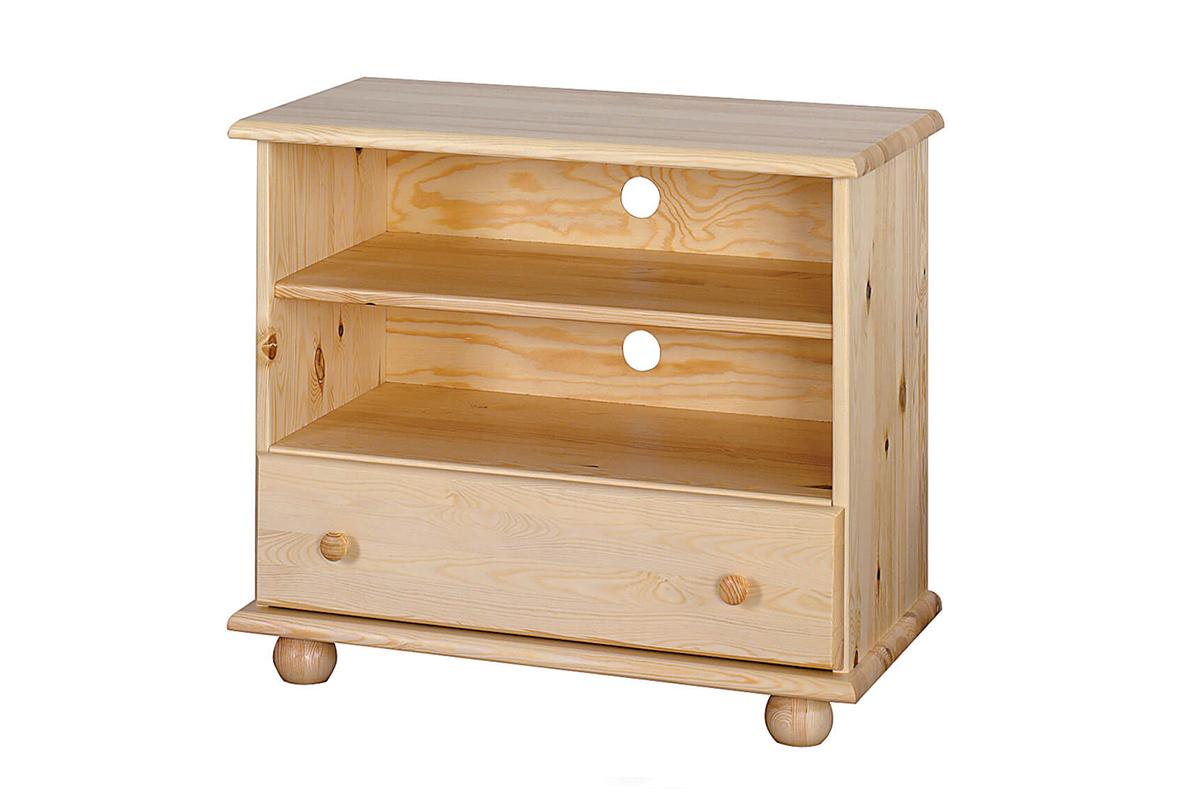 Drewniana szafka RTV z szufladą