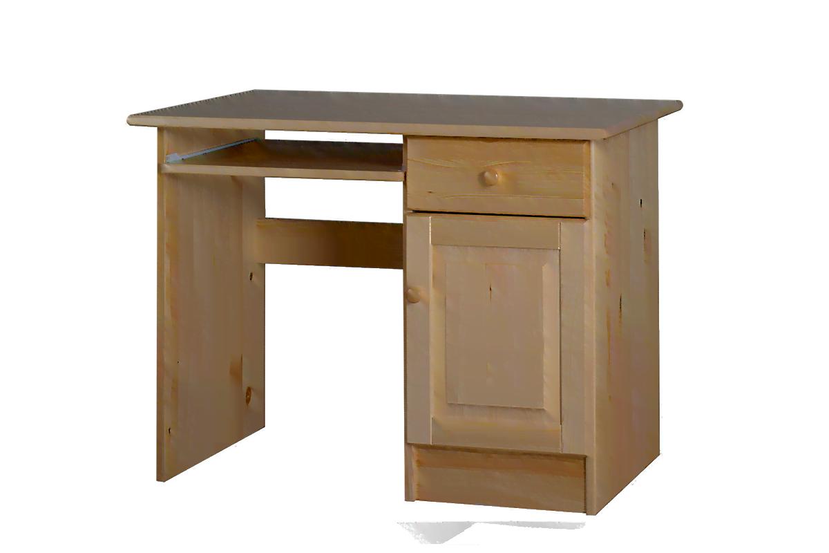Drewniane biurko z półkami i szufladą