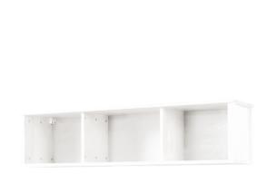 CUCULI, https://konsimo.pl/kolekcja/cuculi/ Sosnowy regał wiszący biały biały - zdjęcie