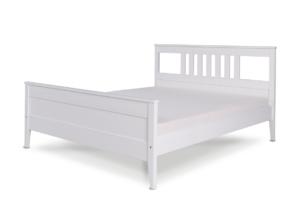 CUCULI, https://konsimo.pl/kolekcja/cuculi/ Sosnowa rama łóżka 140 x 200 biała biały - zdjęcie