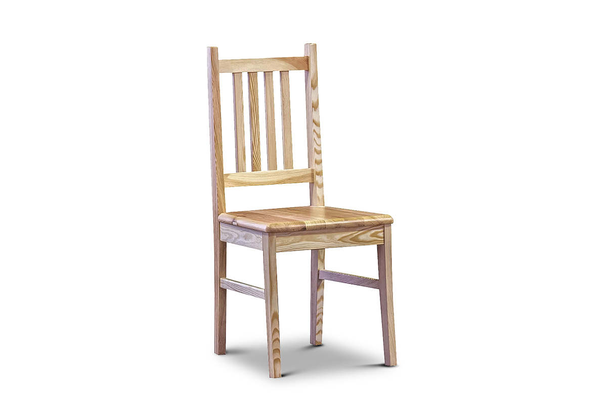 Proste krzesło sosnowe