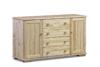 LISSO Pojemna komoda z półkami i szufladami sosnowa sosna naturalna - zdjęcie 1