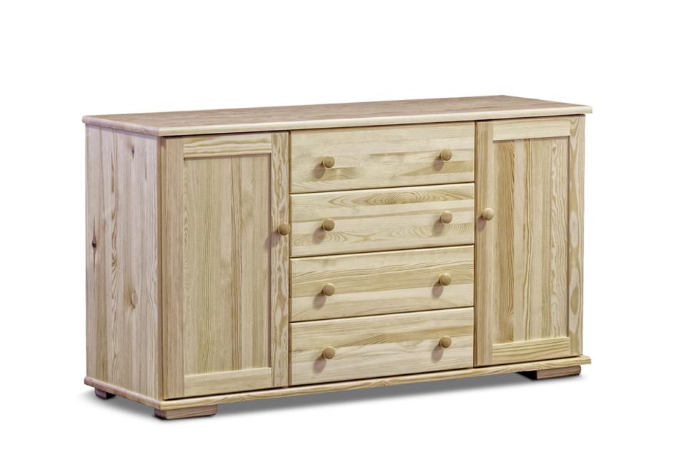LISSO Pojemna komoda z półkami i szufladami sosnowa sosna naturalna - zdjęcie 0