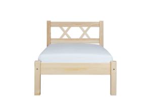 LISSO, https://konsimo.pl/kolekcja/lisso/ Rama łóżka sosnowa 180 cm sosna naturalna - zdjęcie