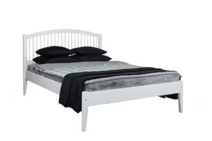 ALPI, https://konsimo.pl/kolekcja/alpi/ Rama łóżka z drewna sosnowego 90 x 201 biała biały - zdjęcie