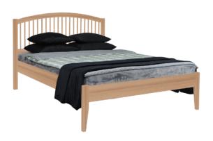 ALPI, https://konsimo.pl/kolekcja/alpi/ Rama łóżka z drewna sosnowego 90 x 200 dąb dąb - zdjęcie