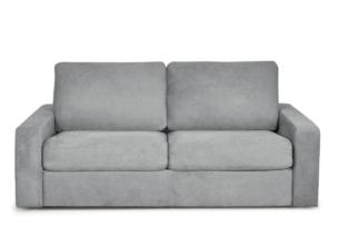 MENTO, https://konsimo.pl/kolekcja/mento/ Sofa rozkładana 3 osobowa system włoski szara jasny szary - zdjęcie