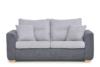 URKE Sofa ze stelażem włoskim szara jasny szary/ciemny szary - zdjęcie 1