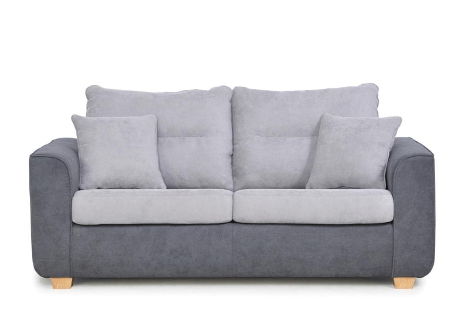 URKE Sofa ze stelażem włoskim szara jasny szary/ciemny szary - zdjęcie 0
