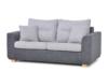 URKE Sofa ze stelażem włoskim szara jasny szary/ciemny szary - zdjęcie 2