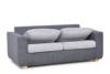 URKE Sofa ze stelażem włoskim szara jasny szary/ciemny szary - zdjęcie 4