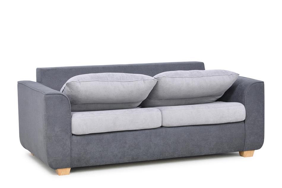 URKE Sofa ze stelażem włoskim szara jasny szary/ciemny szary - zdjęcie 3