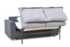 URKE Sofa ze stelażem włoskim szara jasny szary/ciemny szary - zdjęcie 6