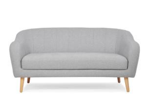 HAMPI, https://konsimo.pl/kolekcja/hampi/ Skandynawska sofa 2 osobowa na drewnianych nóżkach jasnoszara jasny szary - zdjęcie