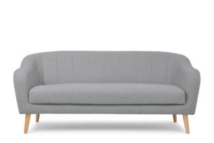 HAMPI, https://konsimo.pl/kolekcja/hampi/ Skandynawska sofa 3 osobowa na drewnianych nóżkach szara ciemny szary - zdjęcie