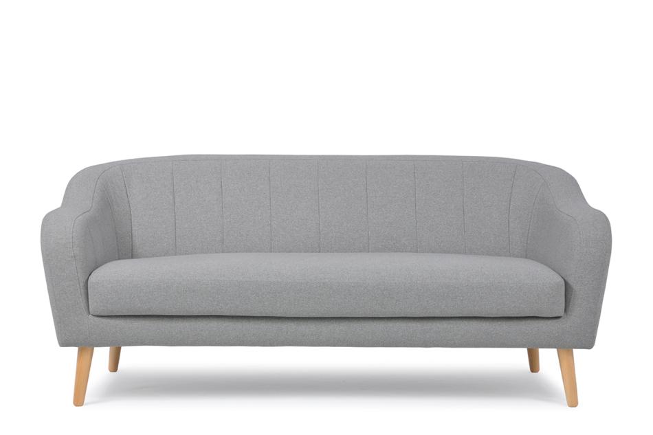 HAMPI Skandynawska sofa 3 osobowa na drewnianych nóżkach szara ciemny szary - zdjęcie 0