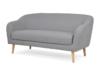 HAMPI Skandynawska sofa 3 osobowa na drewnianych nóżkach szara ciemny szary - zdjęcie 3