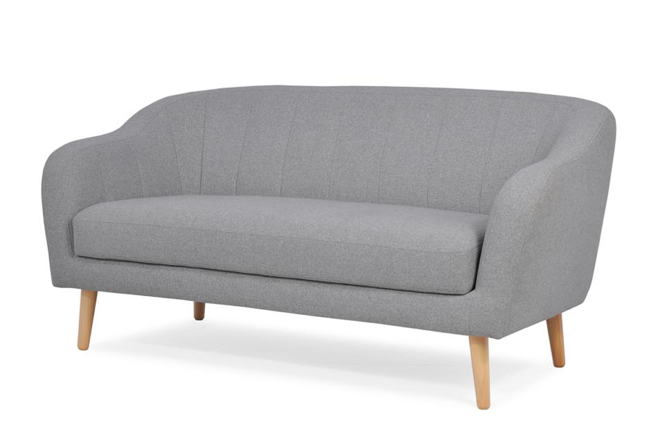 HAMPI Skandynawska sofa 3 osobowa na drewnianych nóżkach szara ciemny szary - zdjęcie 2