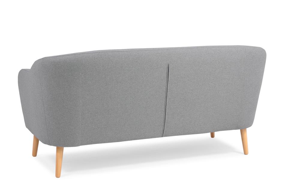 HAMPI Skandynawska sofa 3 osobowa na drewnianych nóżkach szara ciemny szary - zdjęcie 4