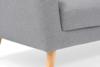 HAMPI Skandynawska sofa 3 osobowa na drewnianych nóżkach szara ciemny szary - zdjęcie 7