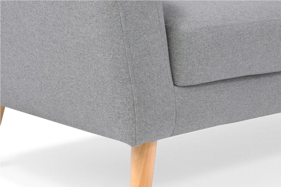 HAMPI Skandynawska sofa 3 osobowa na drewnianych nóżkach szara ciemny szary - zdjęcie 6