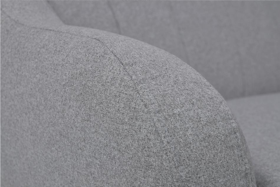 HAMPI Skandynawska sofa 3 osobowa na drewnianych nóżkach szara ciemny szary - zdjęcie 5