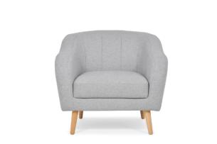 HAMPI, https://konsimo.pl/kolekcja/hampi/ Skandynawski fotel na drewnianych nóżkach jasnoszary jasny szary - zdjęcie