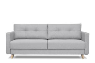 CONCOLI, https://konsimo.pl/kolekcja/concoli/ Rozkładana sofa DL z poduchami jasnoszara jasny szary - zdjęcie