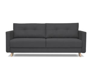 CONCOLI, https://konsimo.pl/kolekcja/concoli/ Rozkładana sofa DL z poduchami szara ciemny szary - zdjęcie