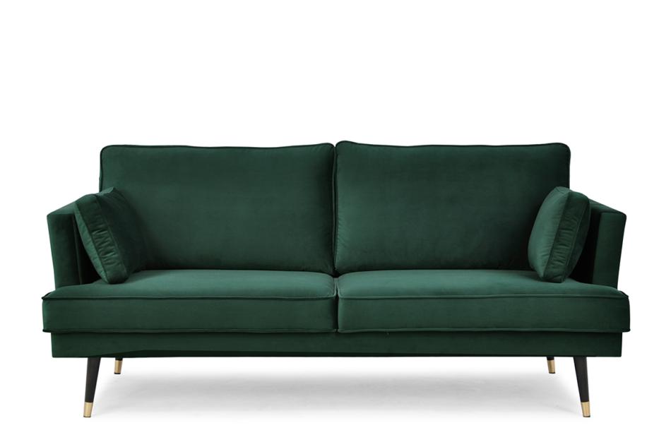 FALCO Sofa trzyosobowa welurowa glamour butelkowa zieleń zielony - zdjęcie 0